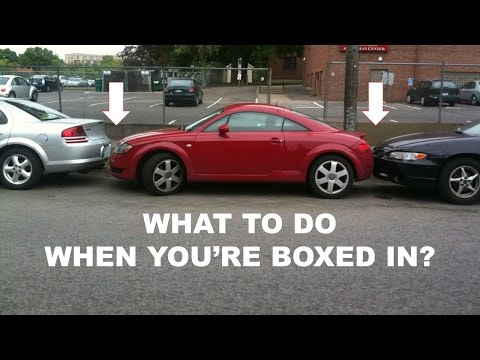 Boxed in parallel parking