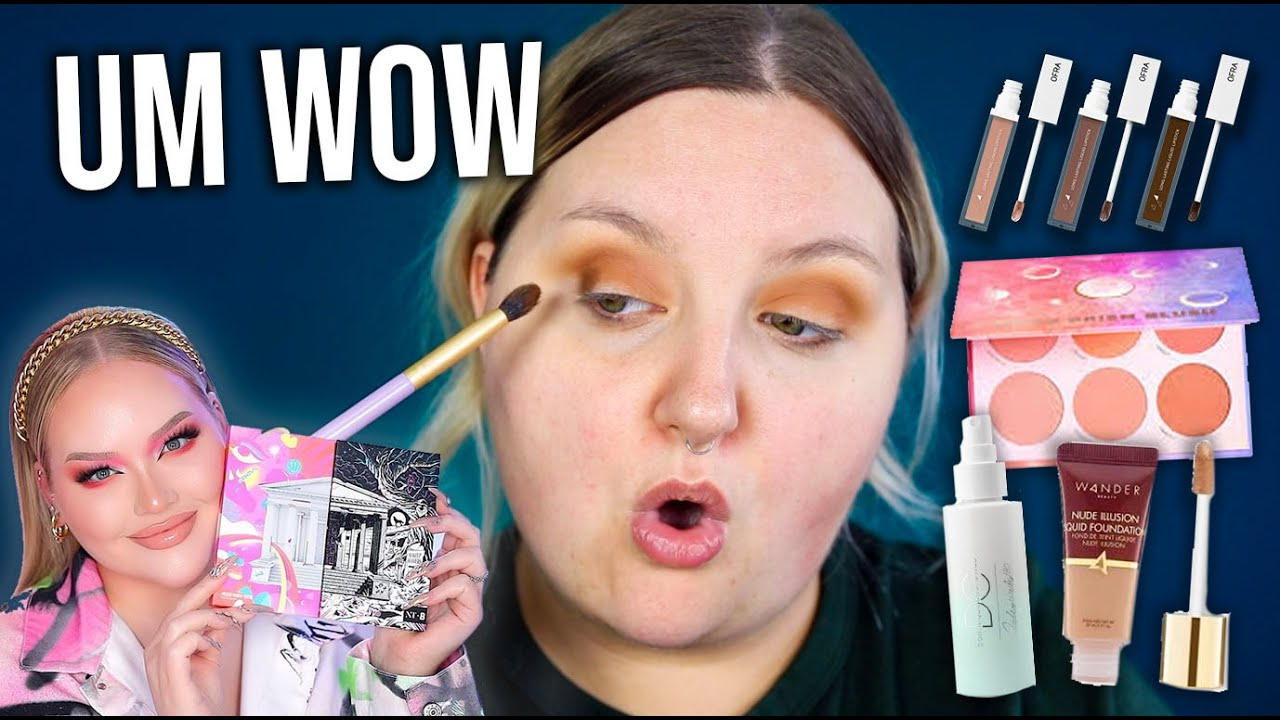 WOWW! FULL FACE TESTING NEW MAKEUP! NIKKIE TUTORIALS X BEAUTY BAY & MORE!