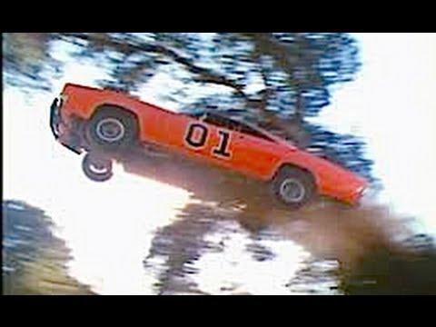 ACCIDENT! Car jumps like dukes of hazzard! Funny CRASH ...