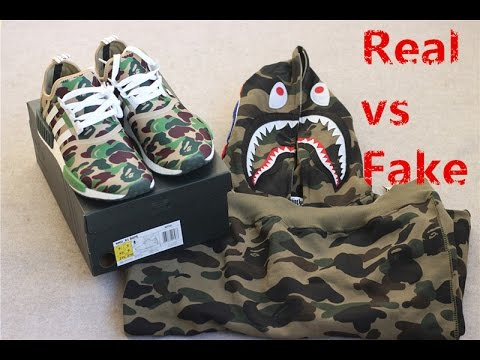 Real vs Fake  Newest update Best Quality UA Adidas Bape NMD Camo ... d475ff2f4