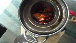 Papa Makes A Large Portable Wood Gas Stove  Part 2  (test Burn)