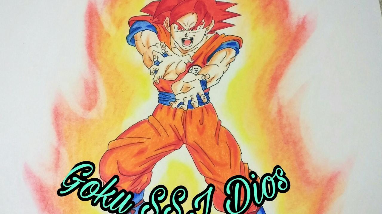 Todas Las Fases De Goku Para Colorear: Como Dibujar A Goku SSJ Dios