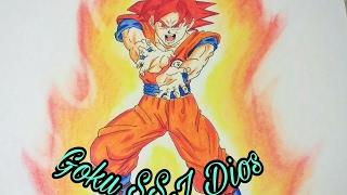Como dibujar a Goku SSJ Dios VS Paco Art Torneo de Dibujantes Speed Drawing Goku ssjgod