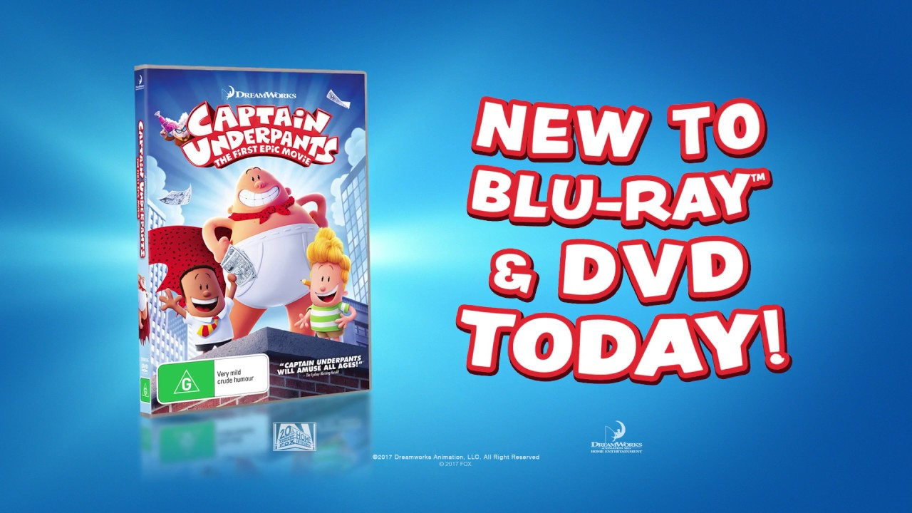Captain Underpants New To Blu Ray Dvd Youtube