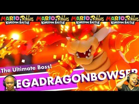 How To Defeat Mega Dragon Bowser Mario + Rabbids Final Battle 4-9