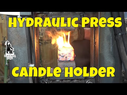 Forging a candle holder under the 24 ton hydraulic press