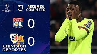 Lyon 0-0 Barcelona – RESUMEN COMPLETO – IDA OCTAVOS DE FINAL – UEFA Champions League