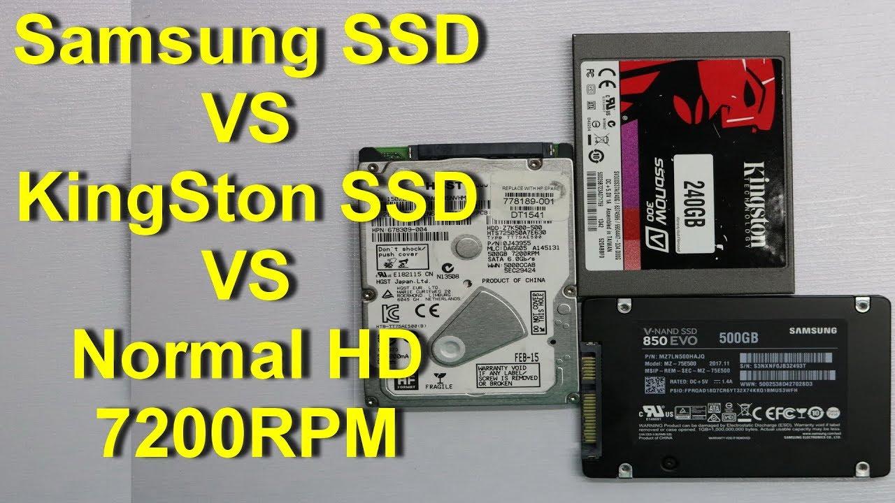 Samsung SSD VS Normal HD VS KingSton SSD