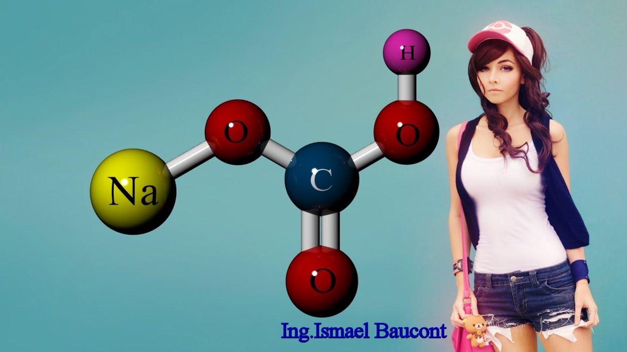 Baking Soda or Sodium Bicarbonate: 3D Molecule