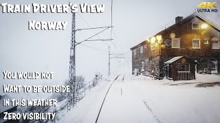 Фото Train Driverand39s View Premiere Bad Weather And Winter Side Views In Flåm