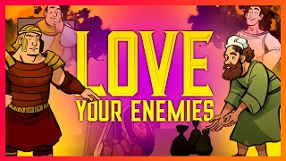 Love Your Enemies - Matthew 5 - Sunday School Lesson for Kids - Bible Teaching Stories for VBS