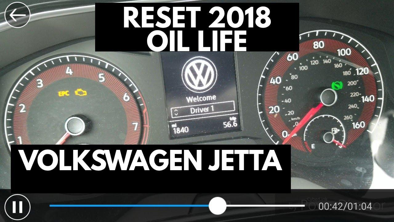 How to reset 2018 Volkswagen Jetta oil life interval