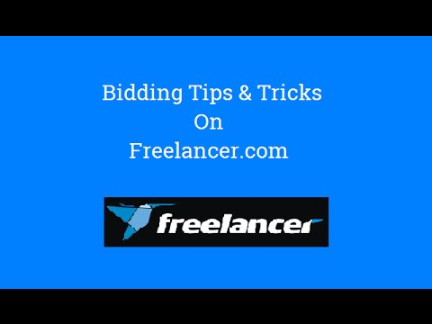 How to bid and get job oon freelancer.com