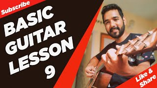 Basic Guitar Lesson 9 (How to Play Bar Chords) in