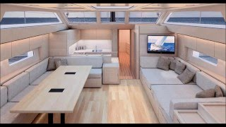 Advanced Italian Yacht A66 3d Model - Yacht interior design