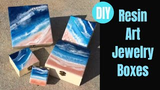 Resin Beach Jewelry Boxes // Crafts