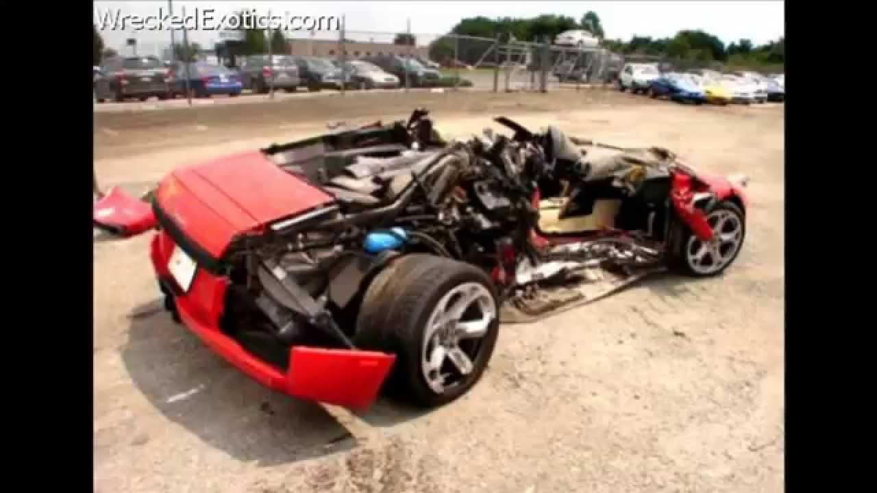 Wrecked Exotics / Luxury Cars Part 3 - YouTube
