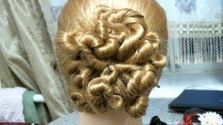 Вечерняя, свадебная прическа. Wedding prom hairstyles for long hair.(В этом видео я вам покажу, как делать красивые жгутики. Подписывайтесь на мой канал и ставьте Лайки под..., 2013-02-01T07:06:52.000Z)