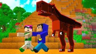 Minecraft: DINOSSAURO DE ESTIMAÇÃO! (Jurassic World) Pac e Mike