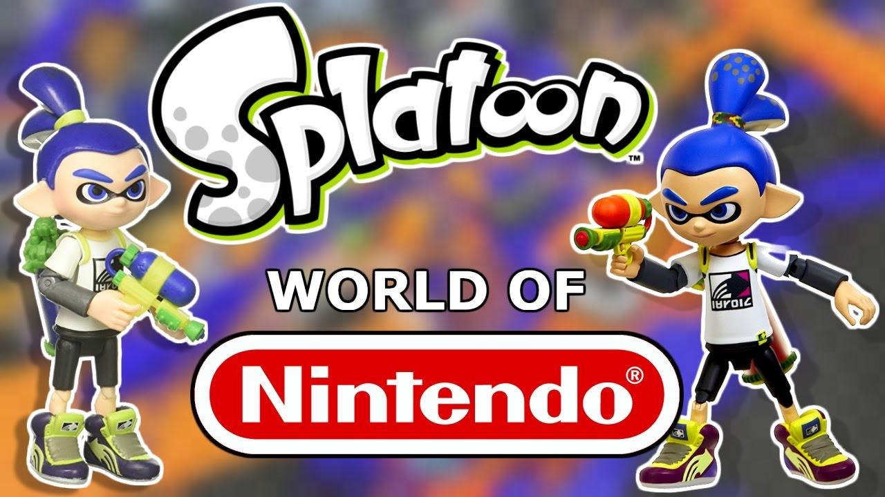 World Of Nintendo Splatoon Inkling Boy Figure Unboxing Reveiw