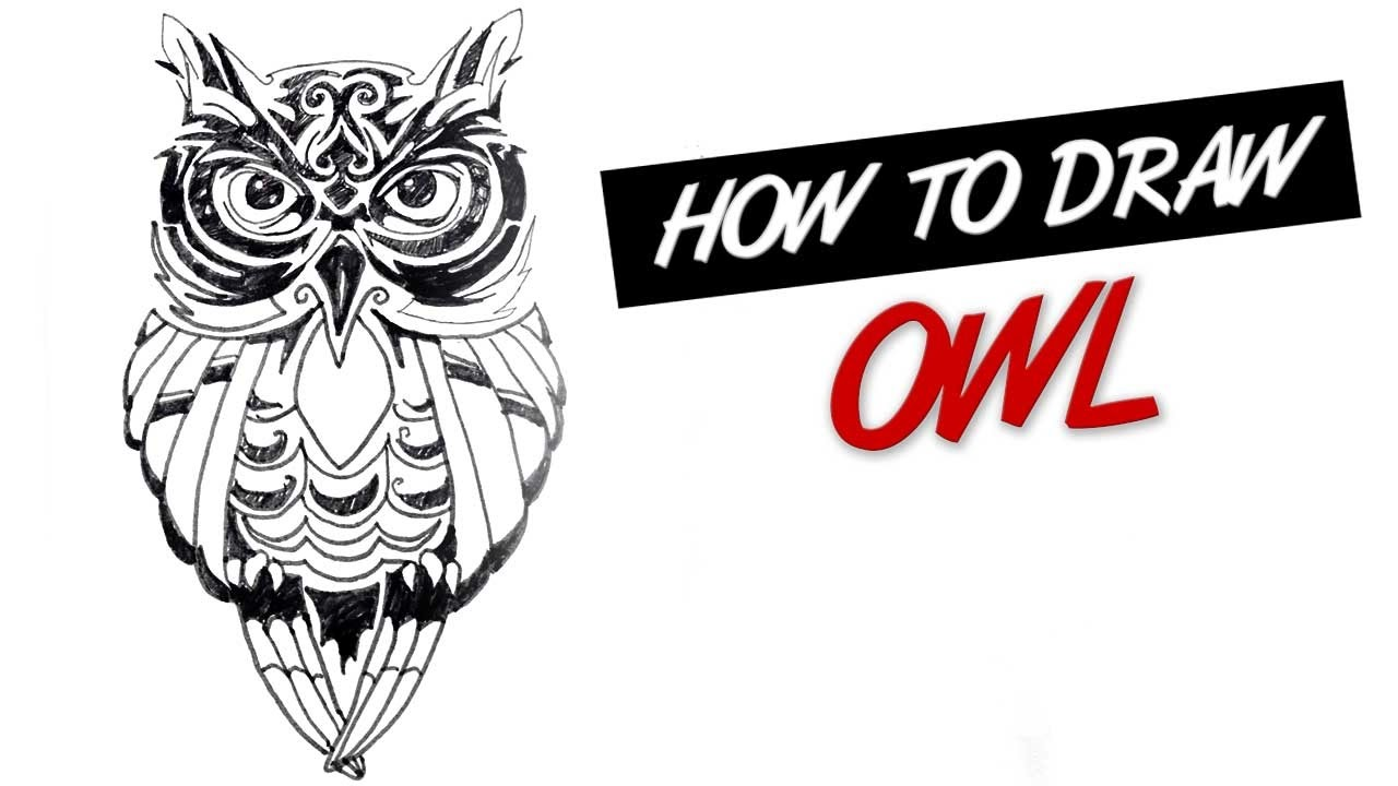 Drawings owl Tribal pictures advise to wear for winter in 2019