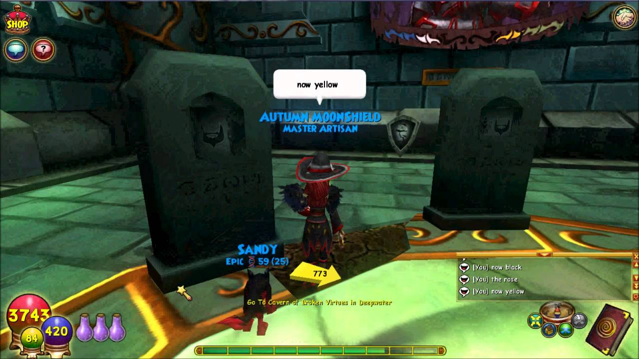 Wizard 101 Sequel Nameless Knight Puzzle
