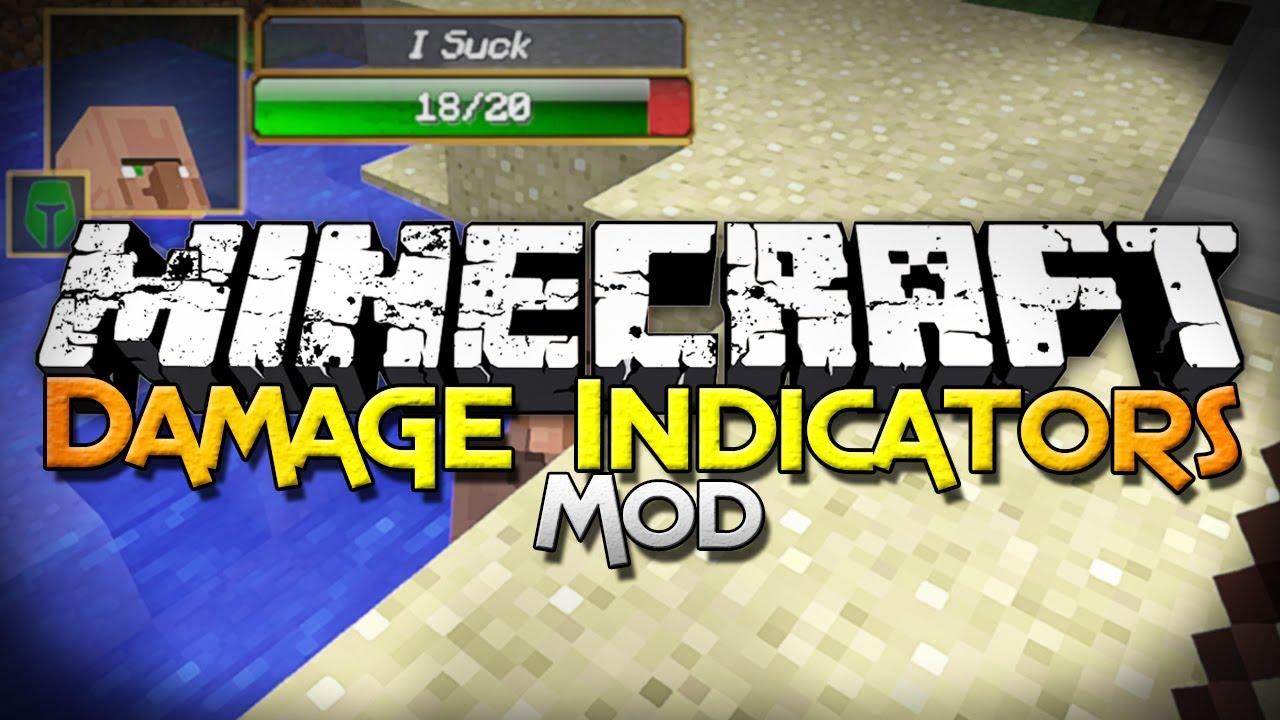 скачать мод на damage indicator майнкрафт 1.7.10