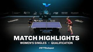 Elizabet Abraamian vs Alina Nikitchanka | WTT Contender Budapest 2021 (Qual)