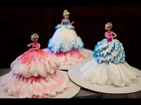 (How To Make) Barbie Doll Princess Cupcakes / DIY Cake Decorating