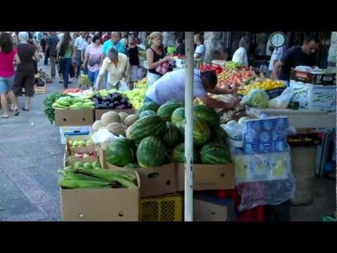 Local market in Montenegro