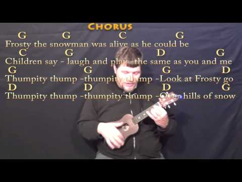 Frosty the Snowman - Ukulele Cover Lesson in G with Chords/Lyrics ...