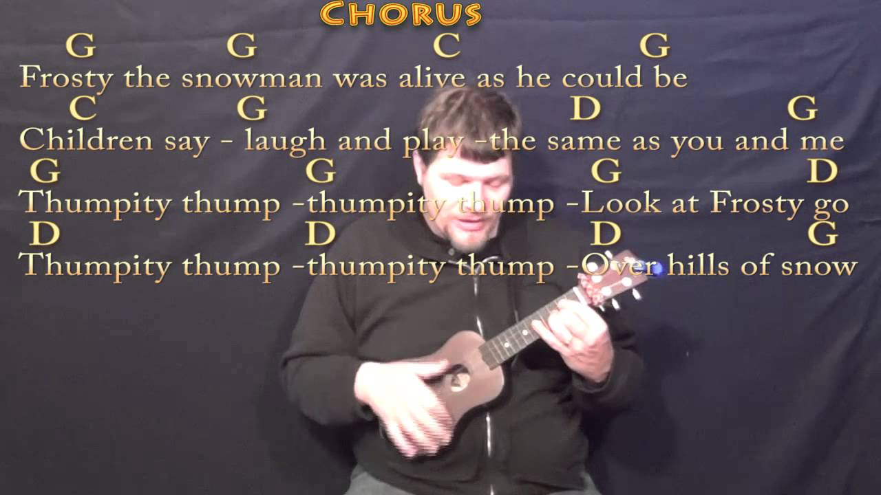 frosty the snowman ukulele cover lesson in g with chordslyrics