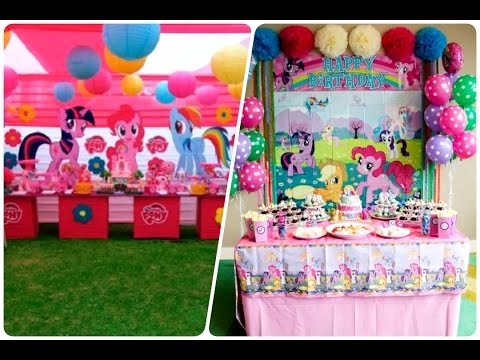 Como Decorar Una Fiesta Infantiles De My Little Pony Happy