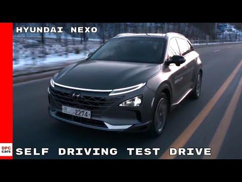 2019 Hyundai NEXO Autonomous Self Driving Test Drive