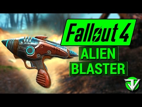 FALLOUT 4: How To Get ALIEN BLASTER from UFO Crash Site! (Unique Weapon Guide)