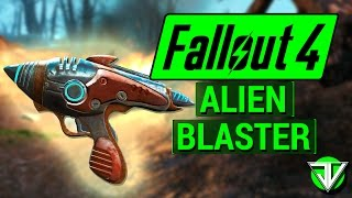 FALLOUT 4 How To Get ALIEN BLASTER from UFO Crash Site Unique Weapon Guide