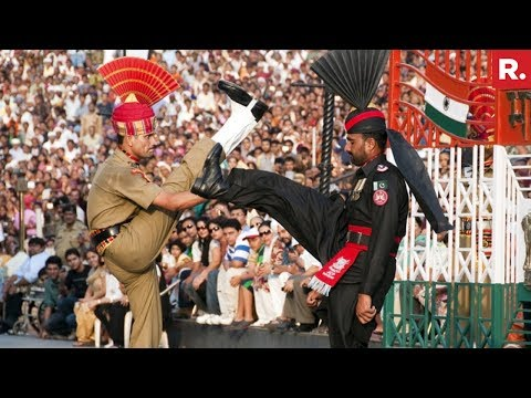 Beating Retreat Ceremony At Wagah Border - Full