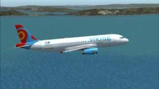 A320 Viking Hellas Rhodes Airport take off. Fs2004