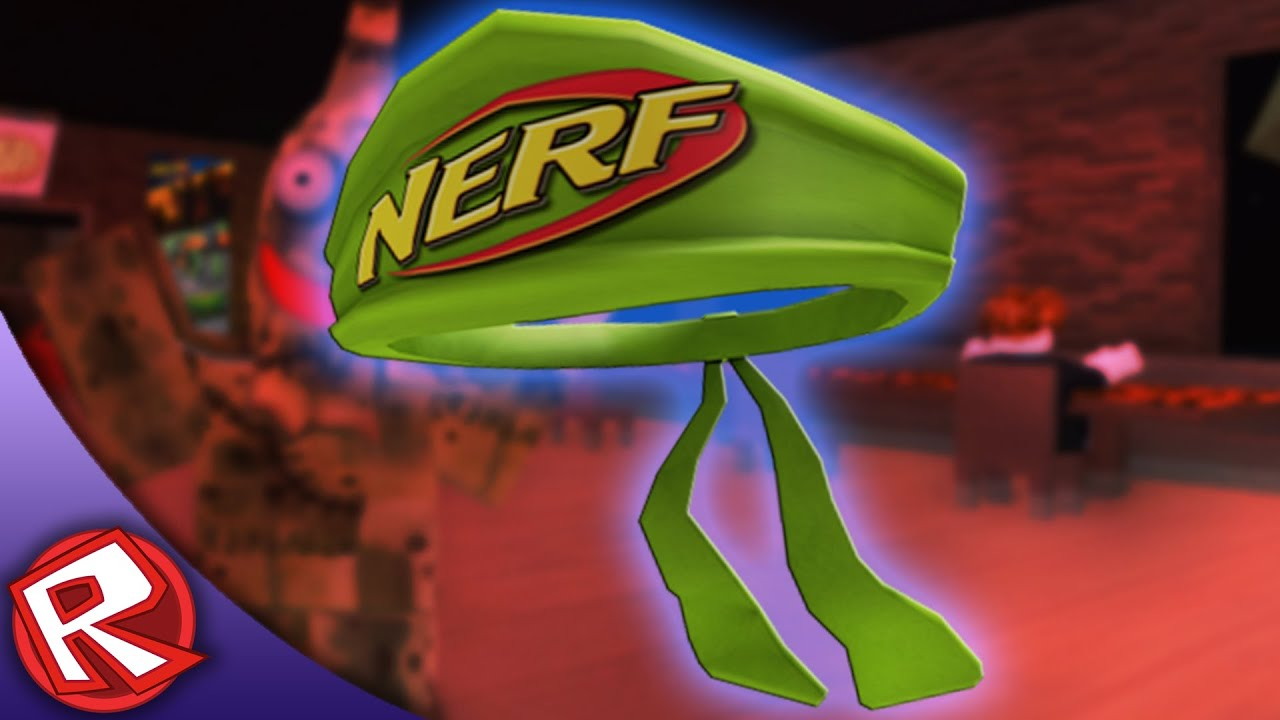 Nerf Bandana Work At A Pizza Place Roblox Event Youtube