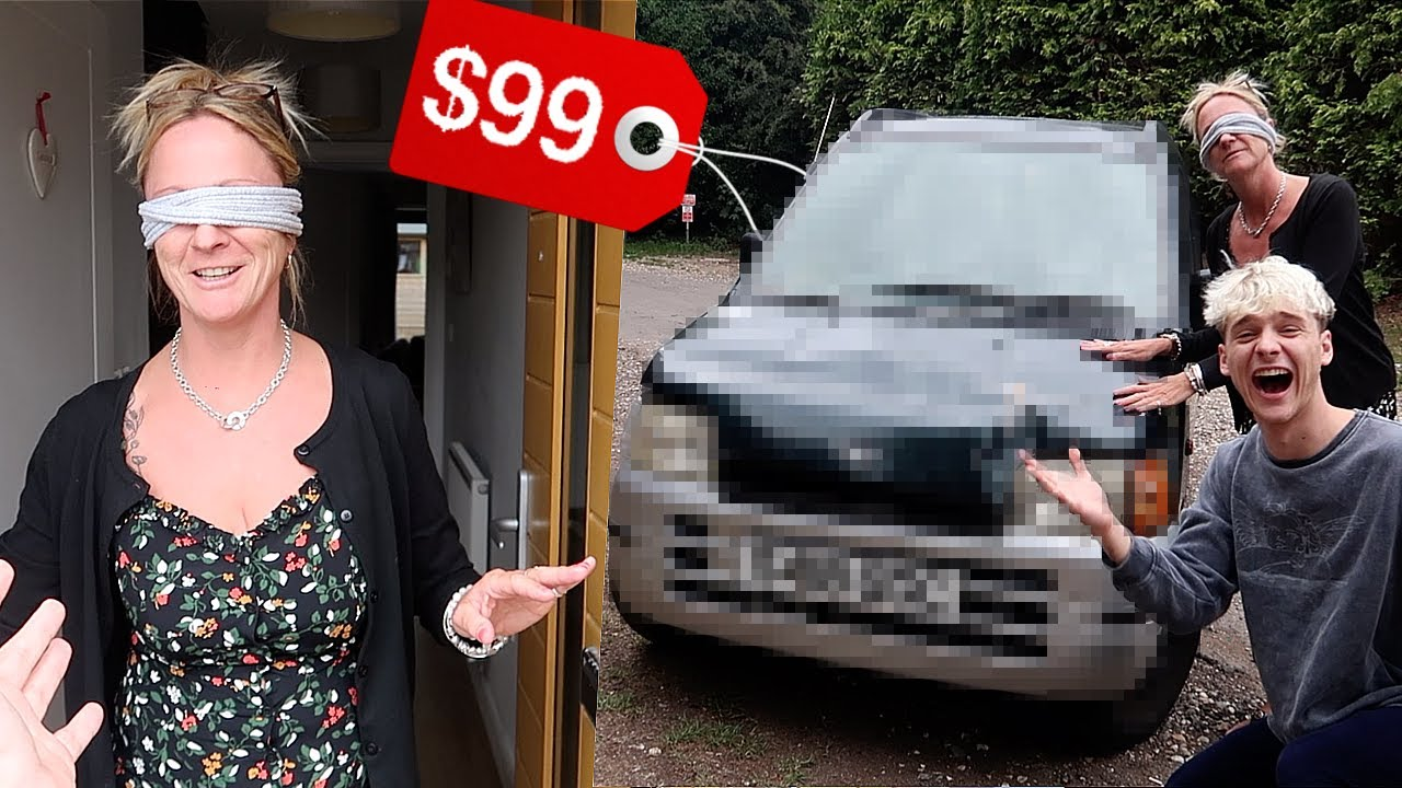 Surprising my Mom with WORLD'S CHEAPEST CAR… *HILARIOUS*