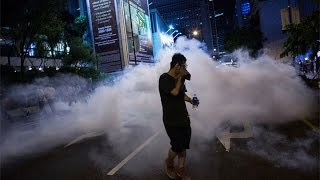 Hong Kong Protesters Rally Through the Night