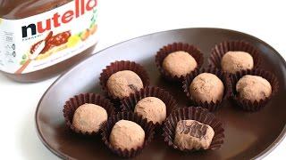 Nutella Chocolate Truffle Recipe 누텔라 초코볼 만들기 - 한글 자막