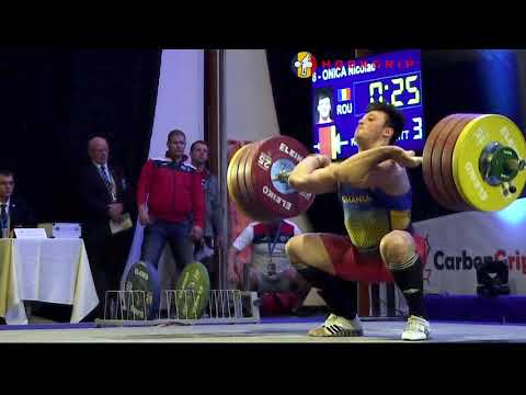 Nicolae Onica (94) - 207kg Clean and Jerk @ 2016 European U23 Championships