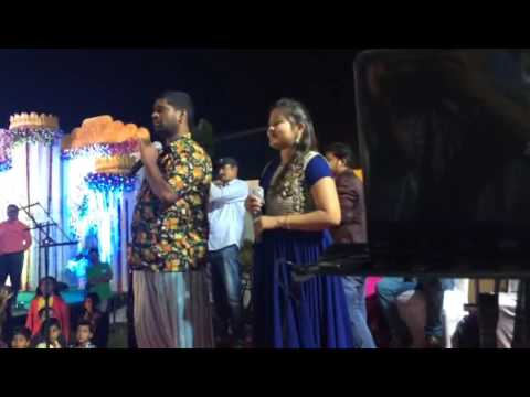 Bithiri Sathi sings Nannudochukunduvate song with Prajwalatha in a show