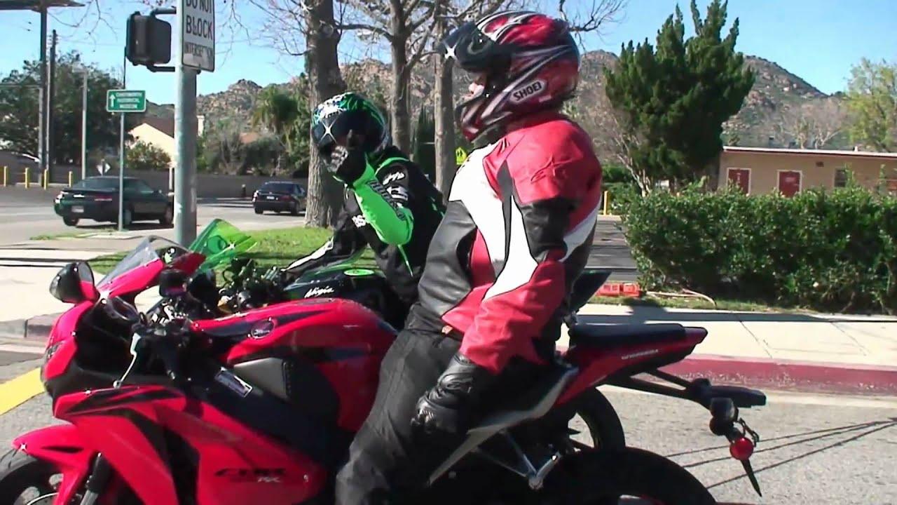 Honda CBR 1000RR And Kawasaki NINJA ZX6R Sportbike Riders Having Fun YEBA