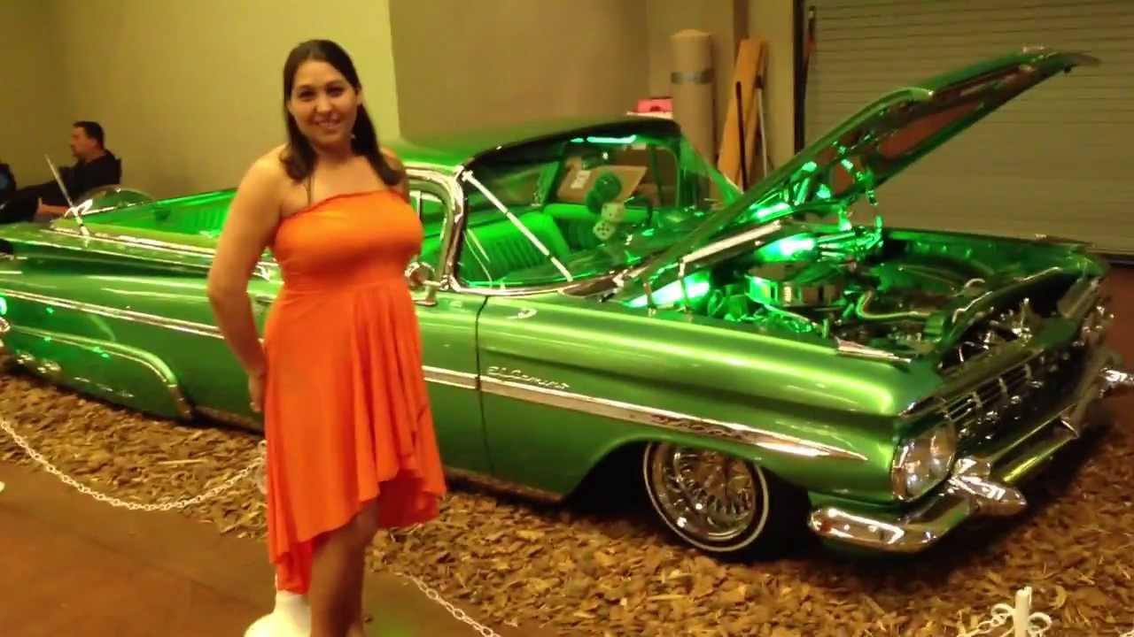Lovely Latina Con El Camino At Mesa Lowrider Show 13 Youtube