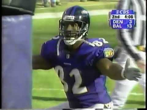 2000 Wild Card - Shannon Sharpe Tipped TD Catch