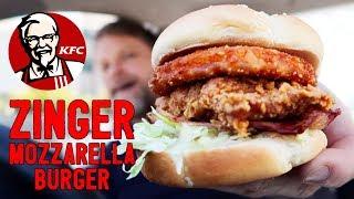 NEW KFC ZINGER MOZZARELLA BURGER REVIEW - Greg's Kitchen