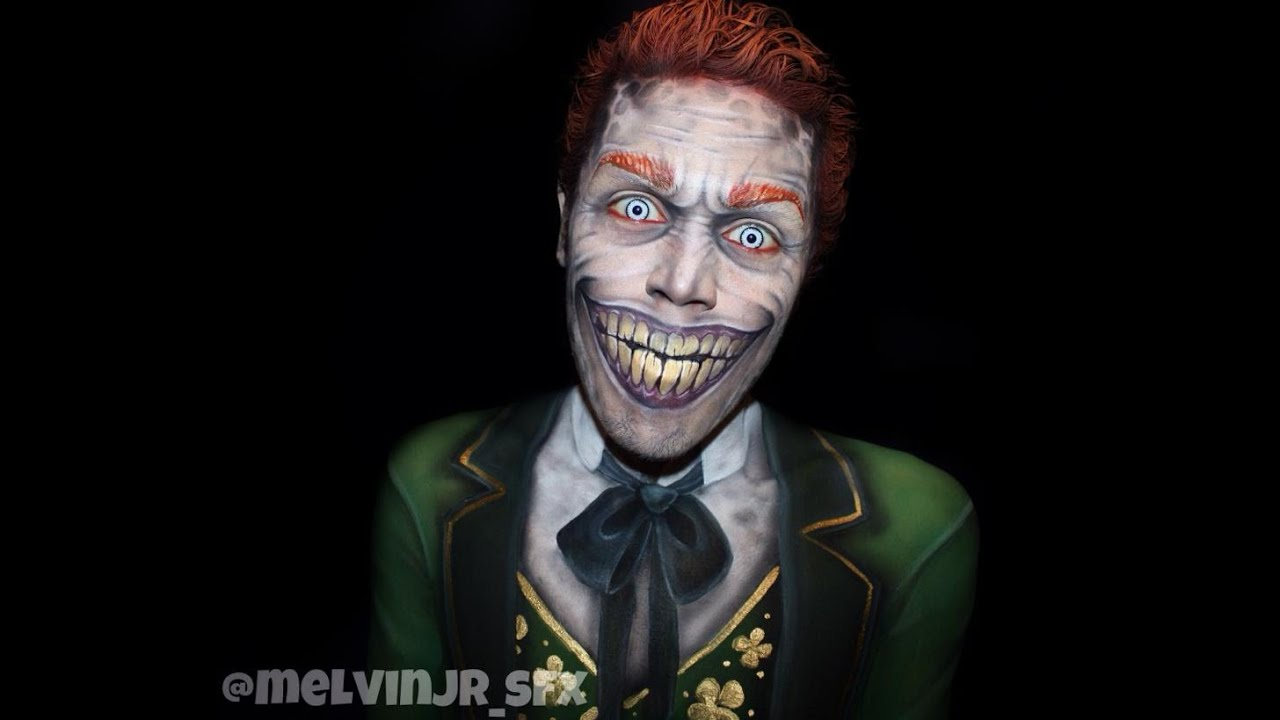 Evil Leprechaun makeup/ body paint tutorial - YouTube