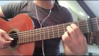غيتار هالولويا  يالهي  جيتار guitar  Hallelujah finger style